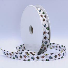 Biais blanc imprimé insecte