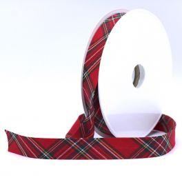 Scottish bias binding of 20mm - red