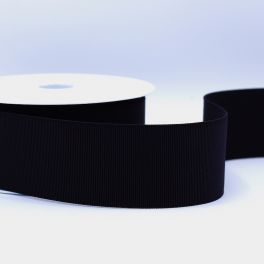 Extensible grosgrain 50mm - black