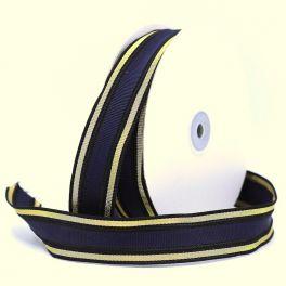 Galon bleu marine et doré