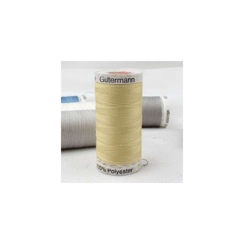 Yellow sewing thread