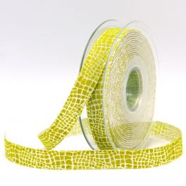 Fantasy ribbon with scales - anis green
