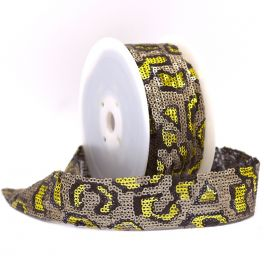 Panther braid trim with flakes - gold