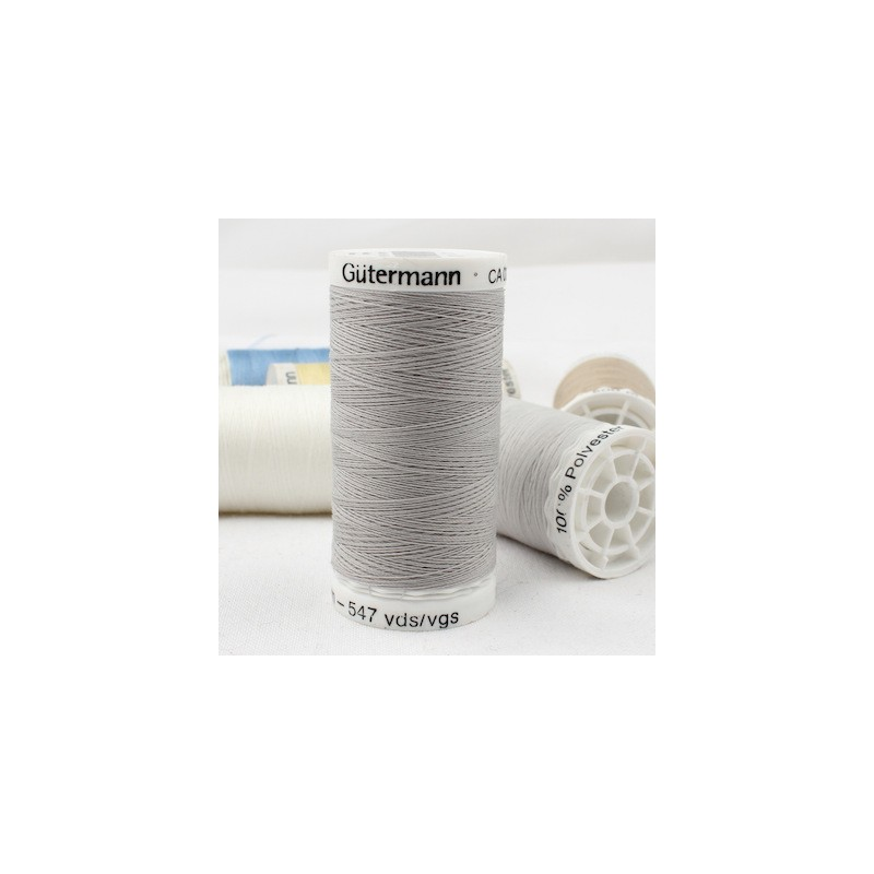 Grey sewing thread