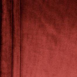 Tissu velours souple bordeaux