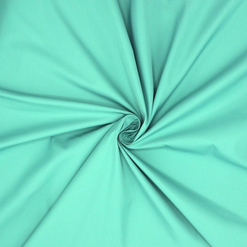 Windproof fabric in polyester - green