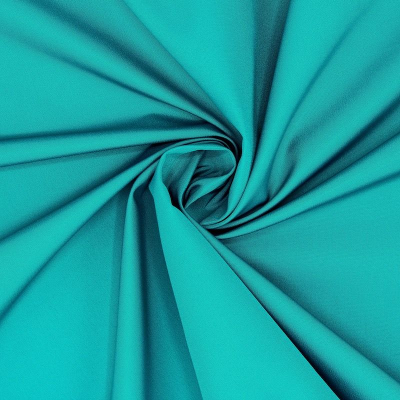 Windproof fabric in polyester - teal