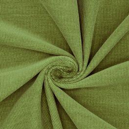 Geribbeld fluweel - groen