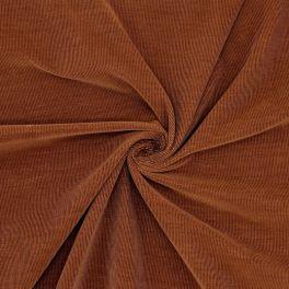 Geribbeld fluweel - bruin