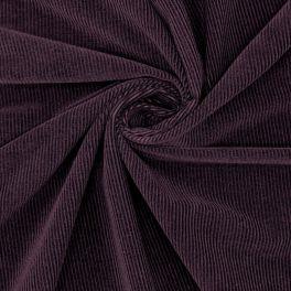 Needlecord fabric - eggplant color