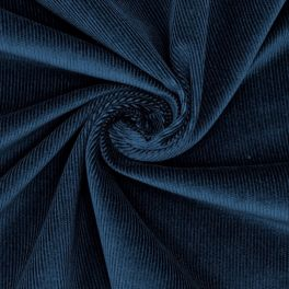 Velours milleraies bleu