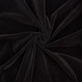 Geribbeld fluweel - zwart