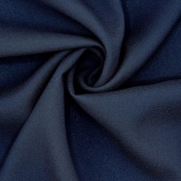 Stof in polyester en viscose - marineblauw