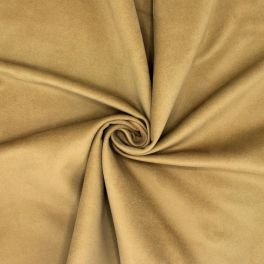 Tissu en coton gratté beige