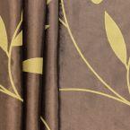 Taffetas imprimé sur fond brun