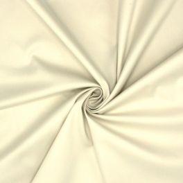 Satin de coton stretch émerisé écru