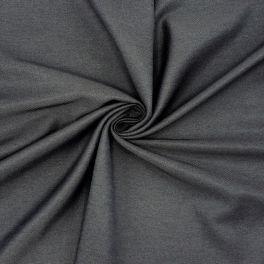 Twill fabric in polyester and viscose - antracite