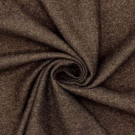 Extensible fabric with wool aspect - brown