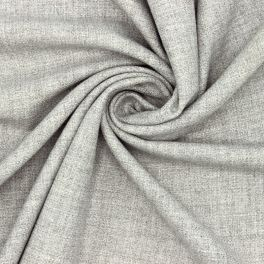 Extensible fabric with wool aspect - grey