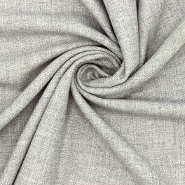 tissus extensible aspect laine gris