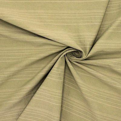 Jacquard fabric with stripes - light khaki