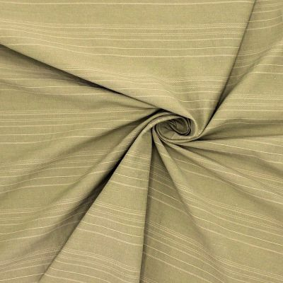 Tissu jacquard kaki clair à rayures