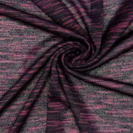 Mottled mesh polyester fabric - plum