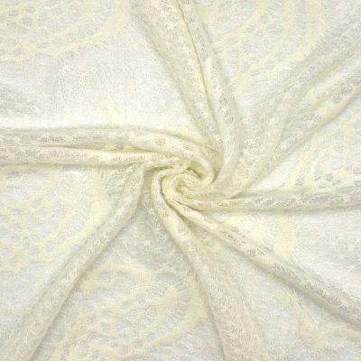 Tissu maille blanc cassé