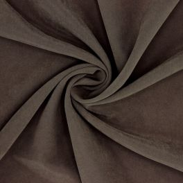 Brown Cupro fabric imitation of washed silk
