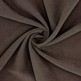 Bruine cuprostof imitatie van gewassen zijde