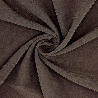 Tissu en cupro brun imitation soie lavée