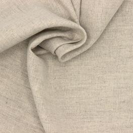 Stof in linnen en katoen - beige