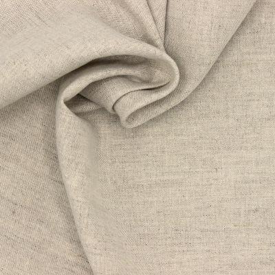 Tissu en lin et coton beige