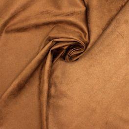 Rekbaar suedachtige stof - brown