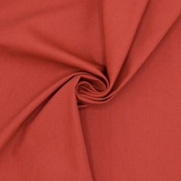 Extensible cotton with twill weave - red