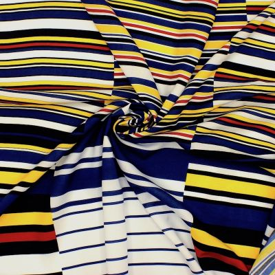 Panel of viscose with stripes