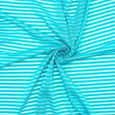 Polyester jersey with perforated stripes