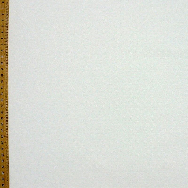 Extensible jacquard fabric - off white
