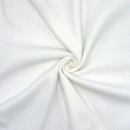 100% cotton fabric in structured white
