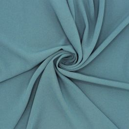 Crêpe fabric with satin underside - grey blue