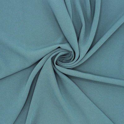 Crêpe fabric with satin underside - grey blue