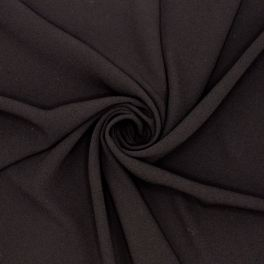 Crêpe fabric with satin underside