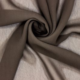Voile 100% viscose taupe
