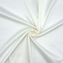 Lichtjes rekbare satijn - gebroken wit