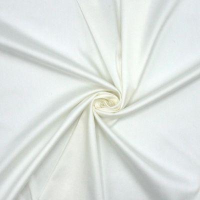 Satin léger extensible blanc cassé