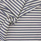 Stof met blauwe strepen