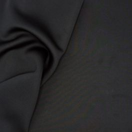 Polyester fabric with neoprene aspect - black