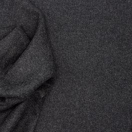 Tissu vestimentaire en laine anthracite