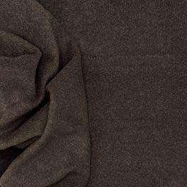 Apparel fabric in wool - brown