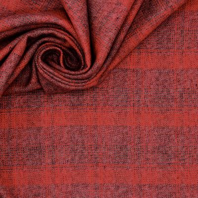 100% cotton with plaids - red